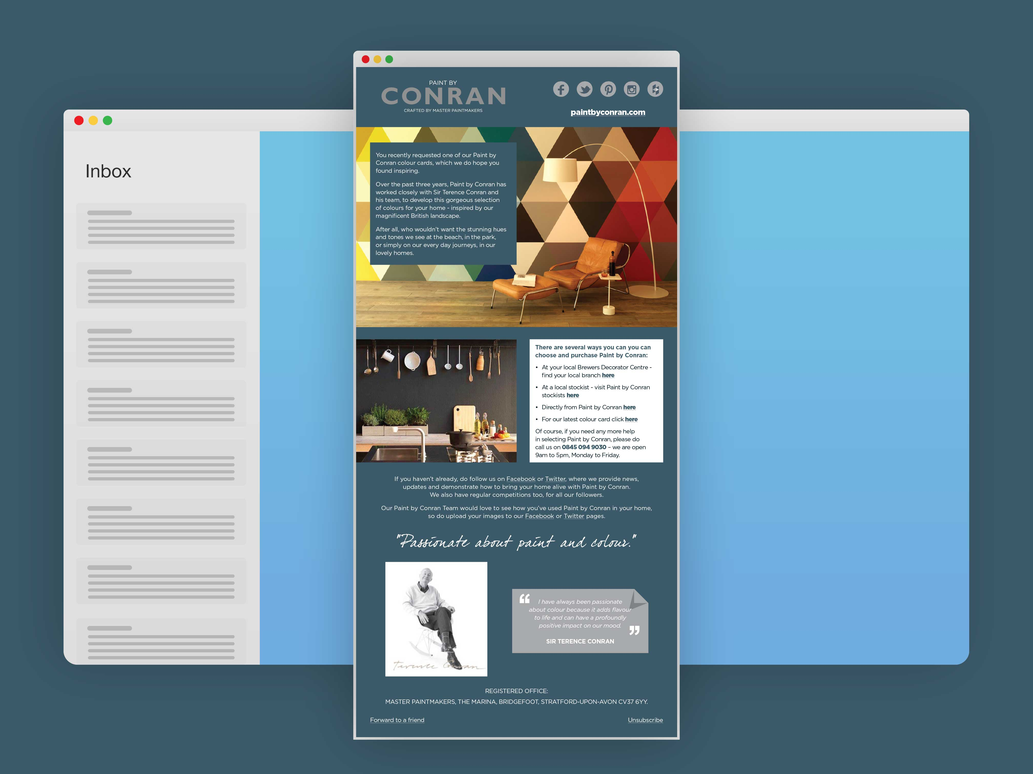Display of Conran Email Template