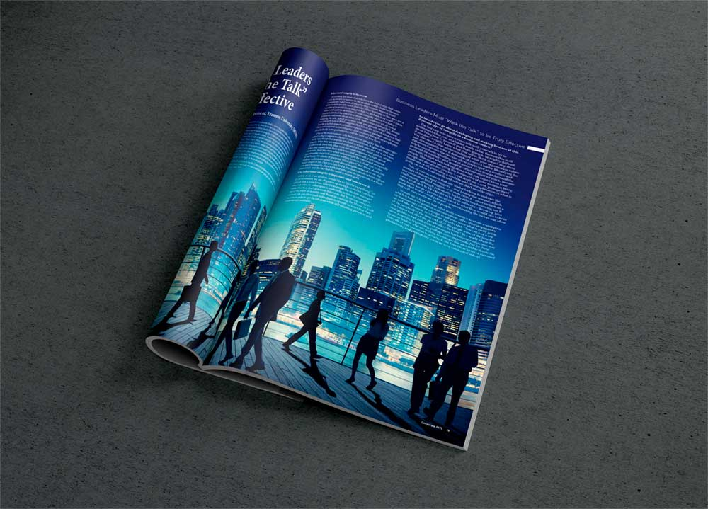 Corporate International Magazine Spread