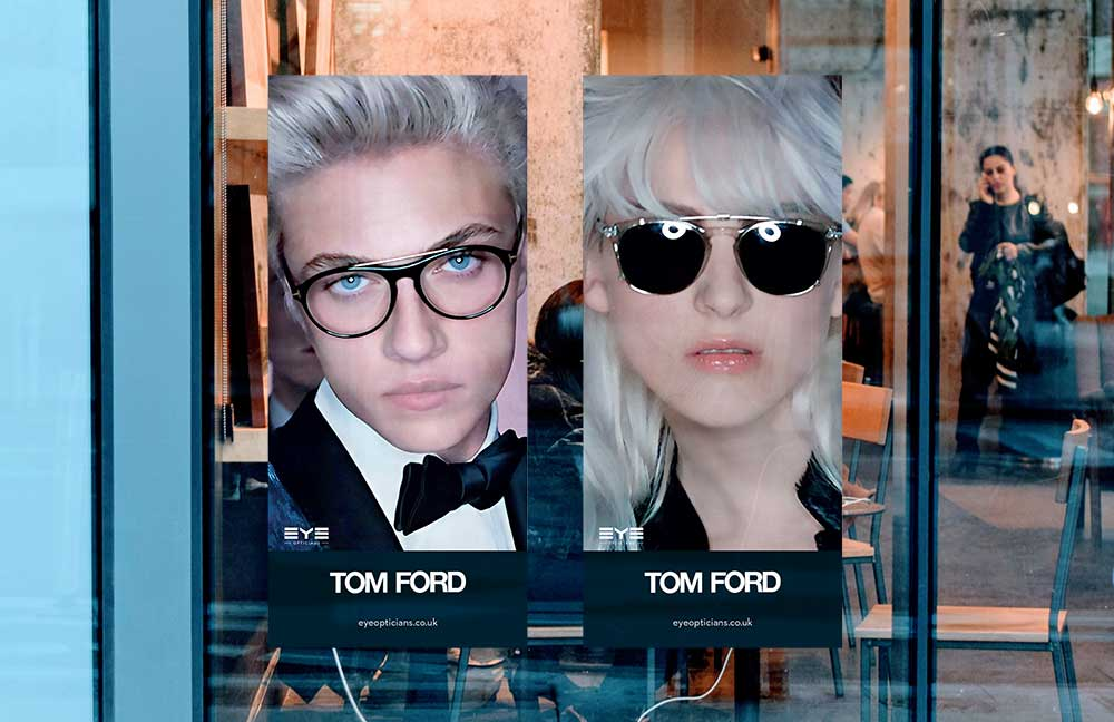 Eye opticians Tom Ford Window Posters