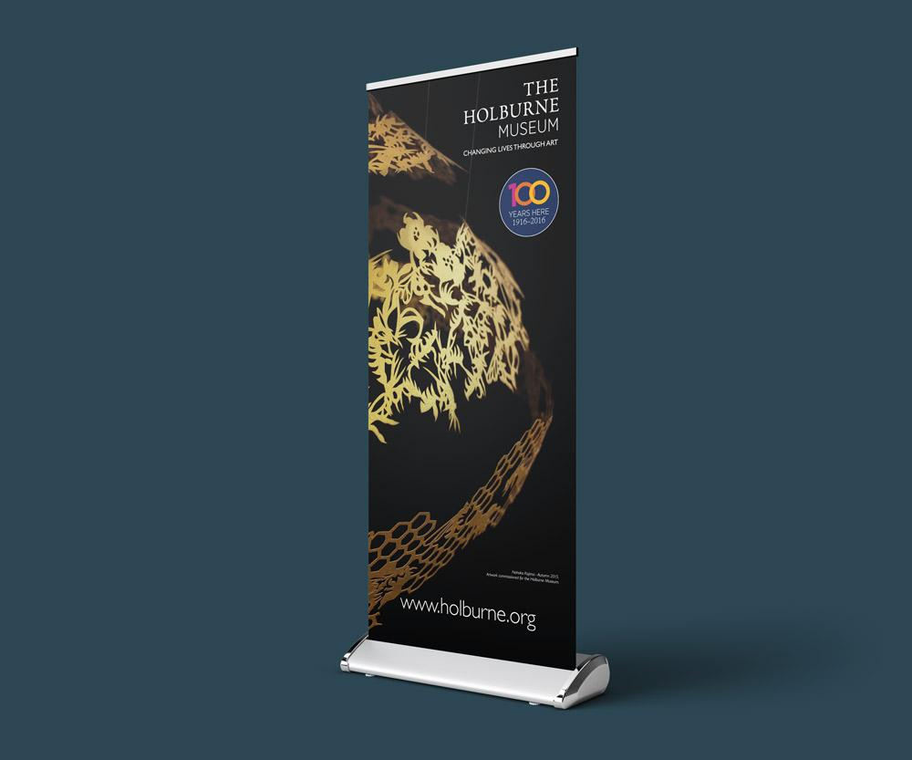Holburne museum pop up banner