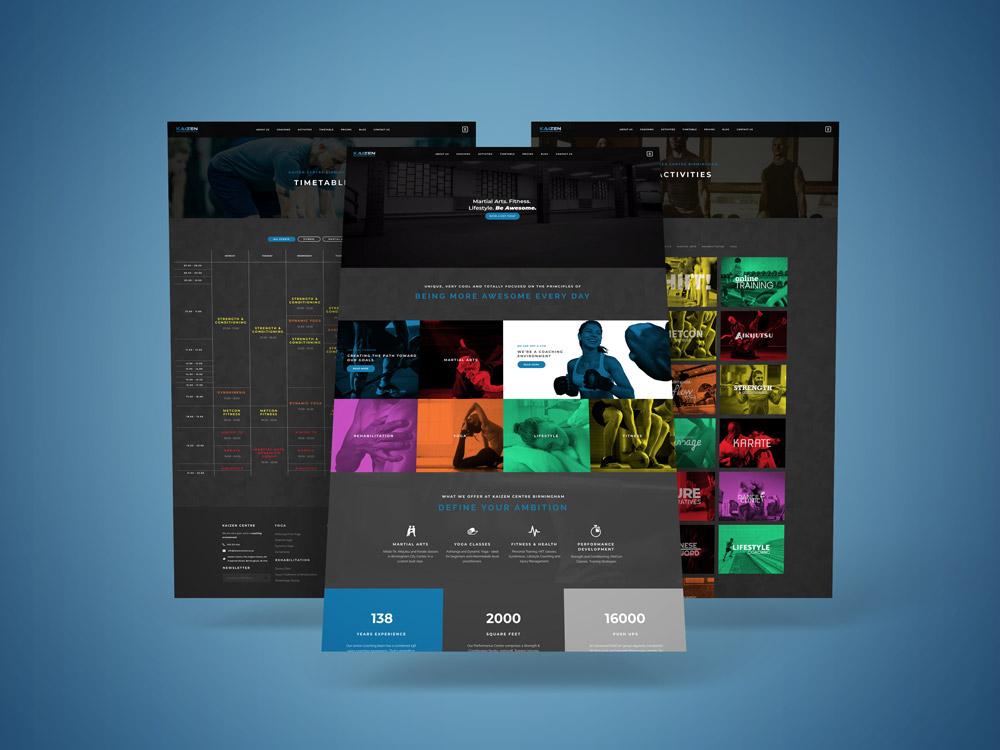 Display of new Kaizen website