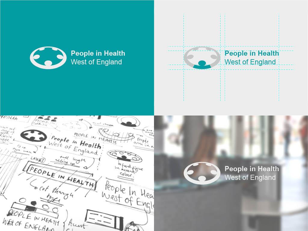 Grid of People In Health branding