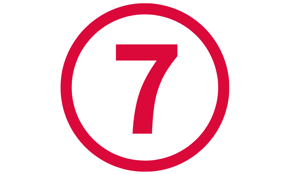 Commemorative Plan B Creative logo featuring the number 7