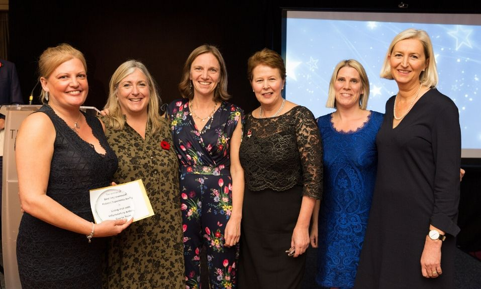 6 ladies receiving award at North Bristol NHS Trust awards event