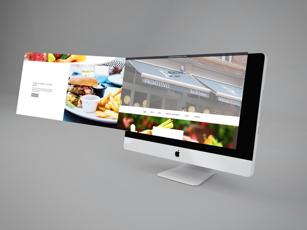 Primitivo Birmingham Website Display
